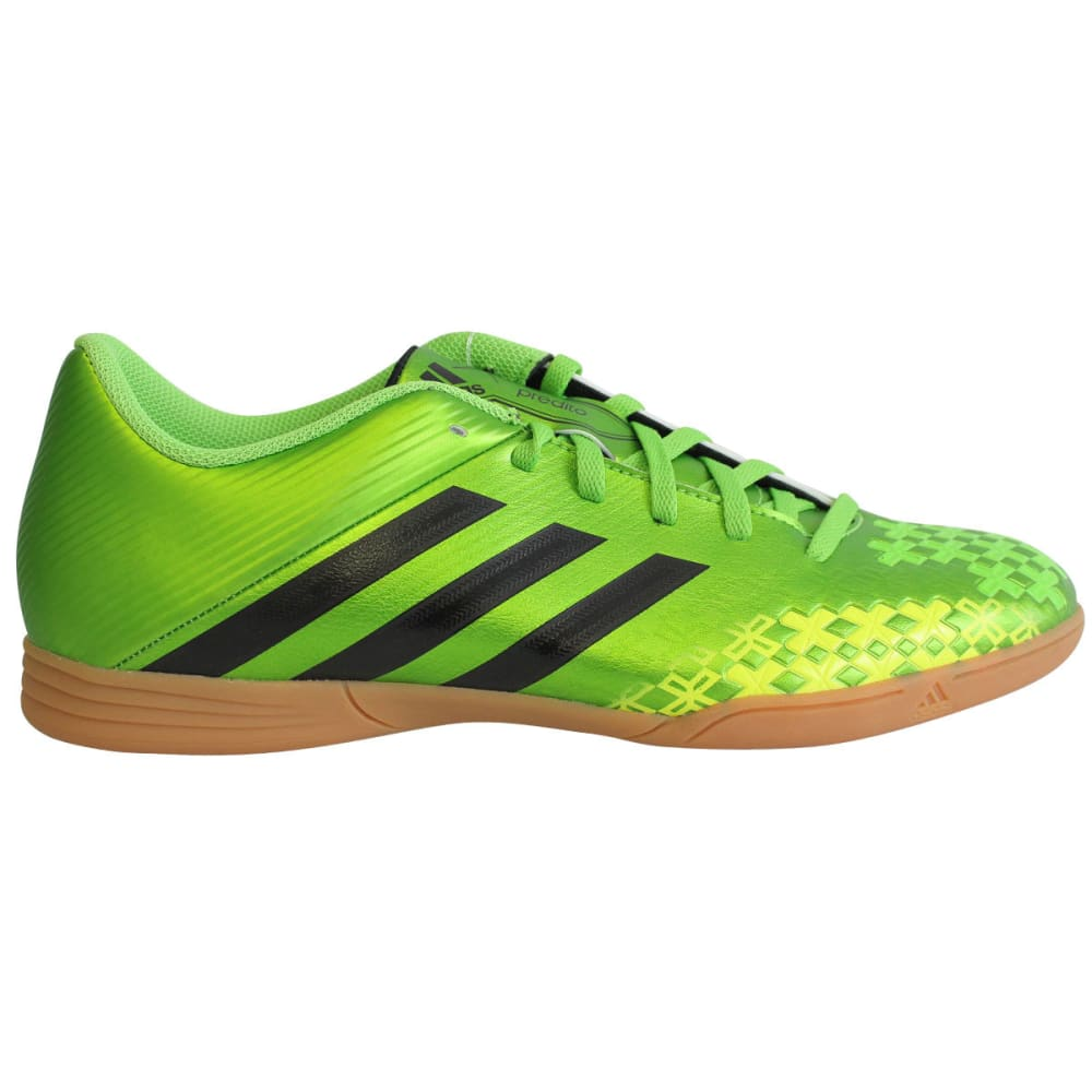 ADIDAS Men's Predito LZ IN Indoor Soccer Shoes, Ray Green/Black/Electricity - ALGAE
