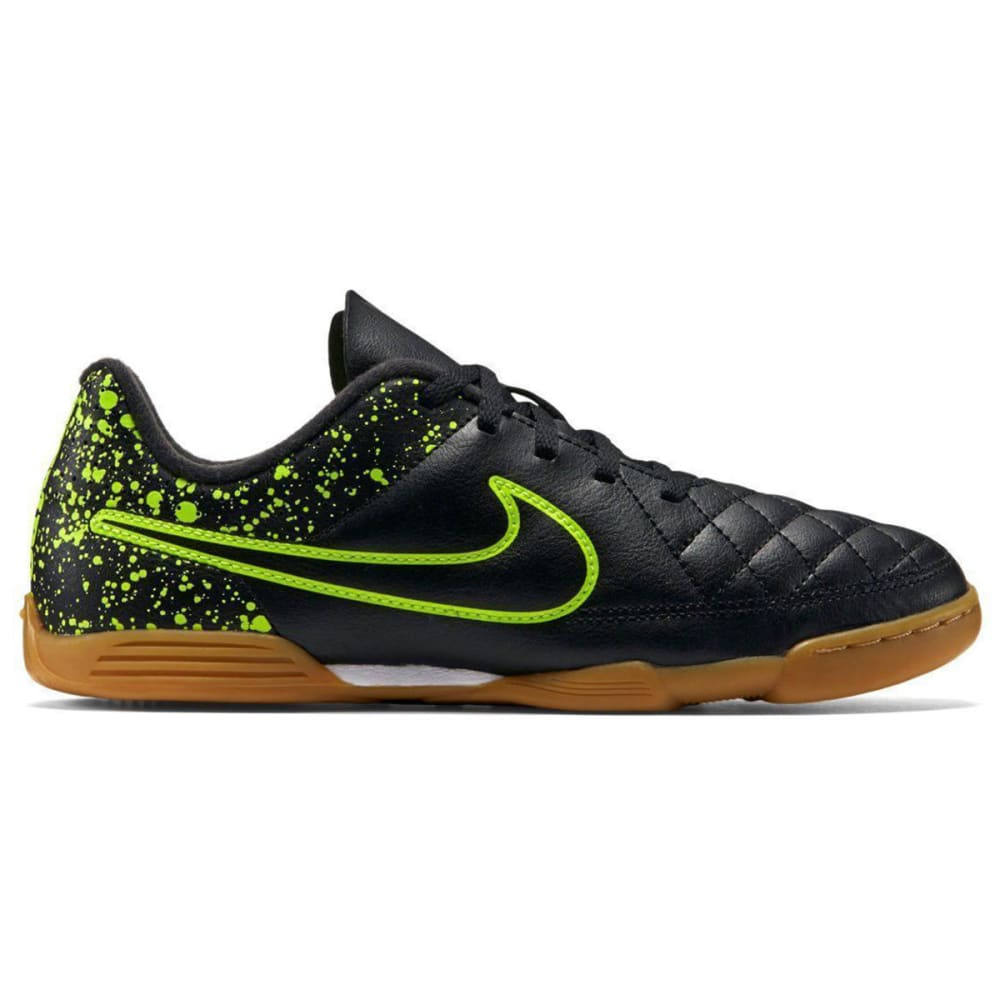 NIKE Men's Tiempo Rio II IC Indoor Soccer Cleats - BLACK