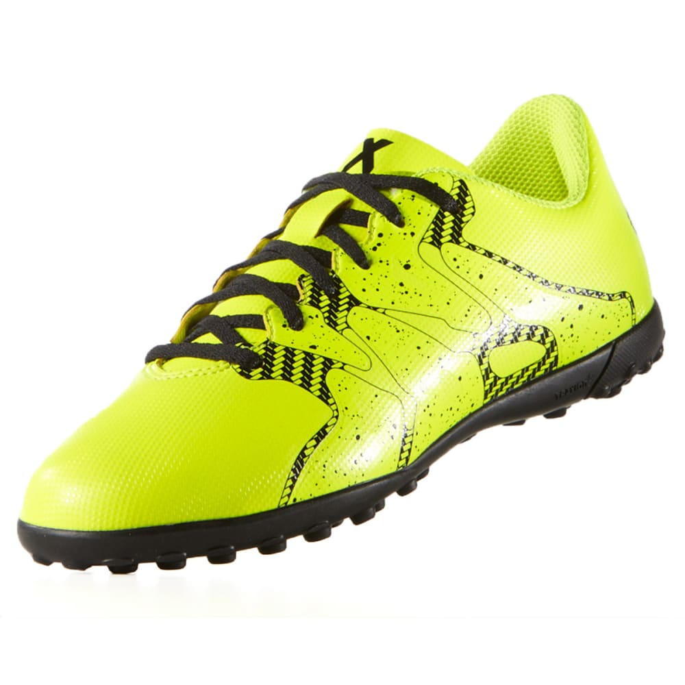 ADIDAS Adult X15.4 TF Indoor Soccer Cleats - SOLAR YELLOW