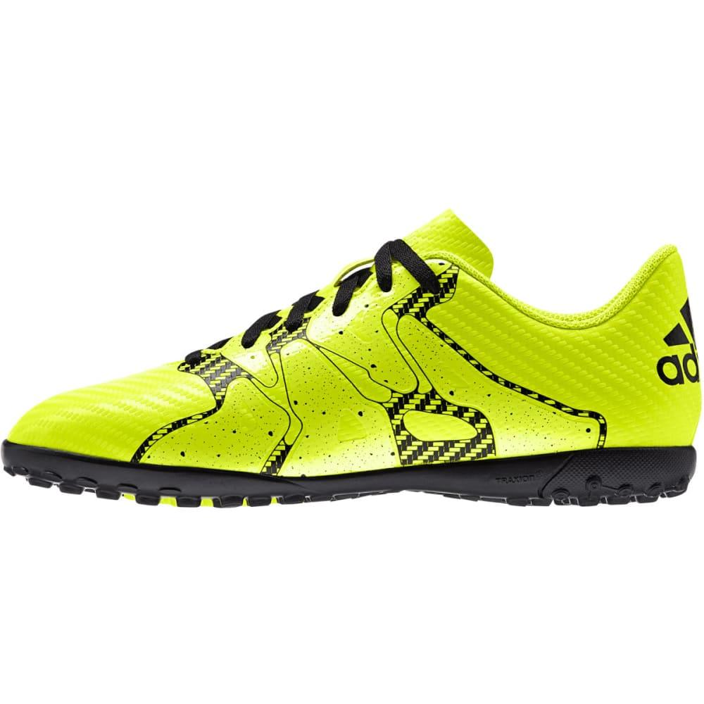 ADIDAS Adult X15.4 TF Indoor Soccer Cleats - SOLAR YELLOW