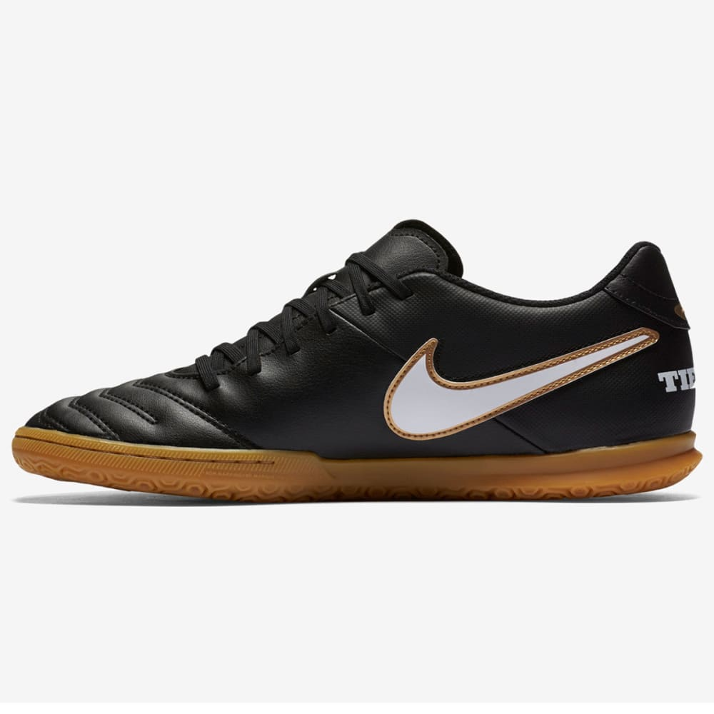 NIKE Men's TiempoX Rio III Indoor Soccer Cleats - BLACK