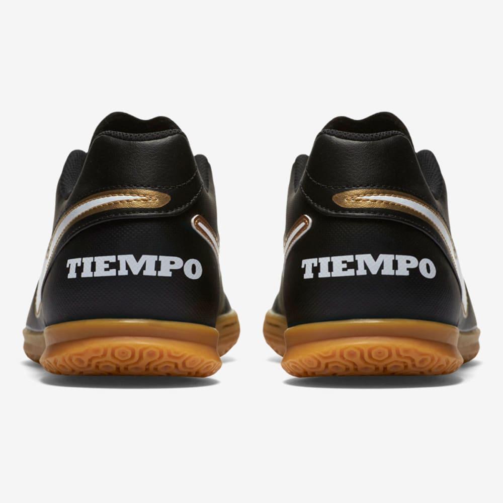 NIKE Men's TiempoX Rio III Indoor Soccer Cleats - BLACK