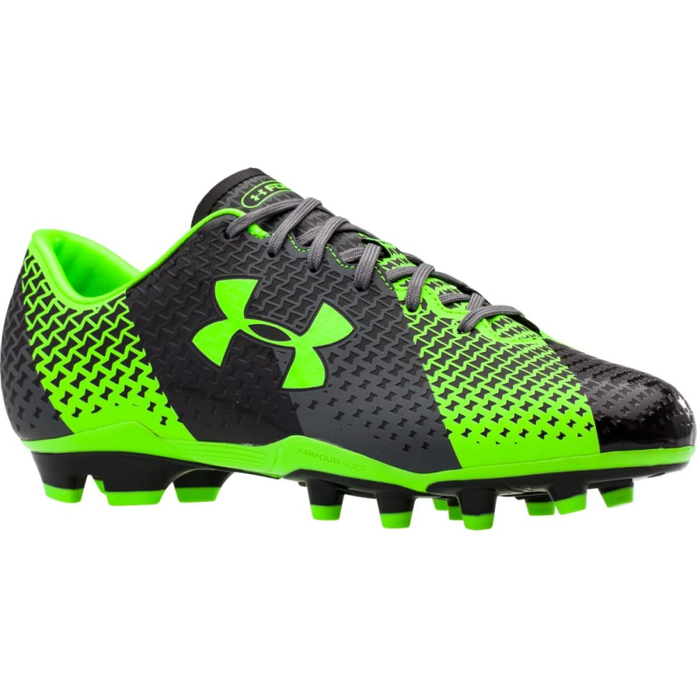 UNDER ARMOUR Men's CF Force FG Soccer Cleats - BLACK/GRAPHITE