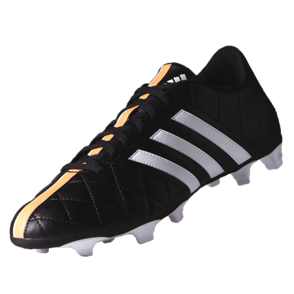 ADIDAS Men's 11 Questra FG Football Cleats - BLACK/WHITE/ORANGE