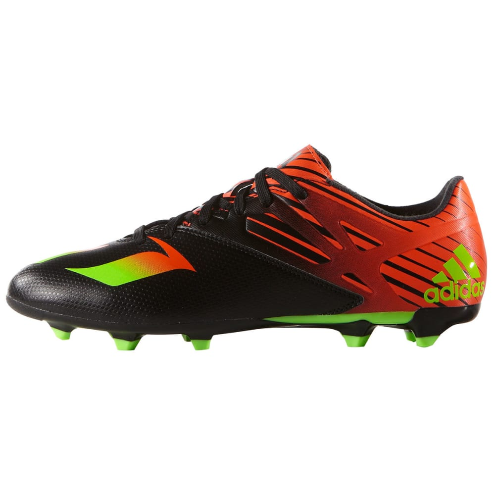 ADIDAS Men's Messi 15.3 Firm/Artificial Ground Soccer Cleats - BLACK/FLASH/GREEN