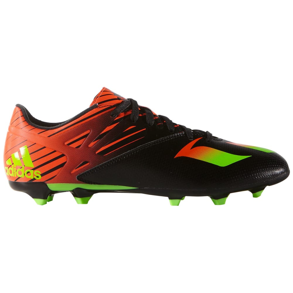 ADIDAS Men's Messi 15.3 Firm Ground Soccer Cleat - BLACK/FLASH/GREEN
