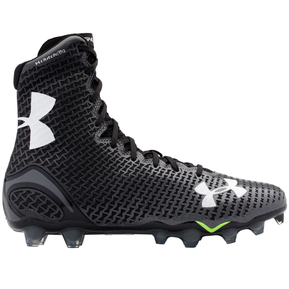 UNDER ARMOUR Men's Highlight MC Lacrosse or Football Cleats - BLACK