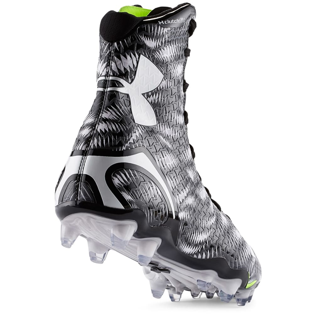 UNDER ARMOUR Men's Highlight MC Football Cleats - BLACK/WHITE