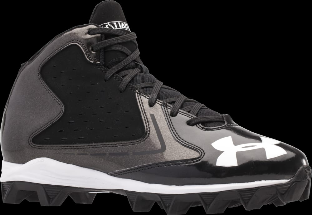 UNDER ARMOUR Men's Highlight RM Football Cleats - BLACK/WHITE