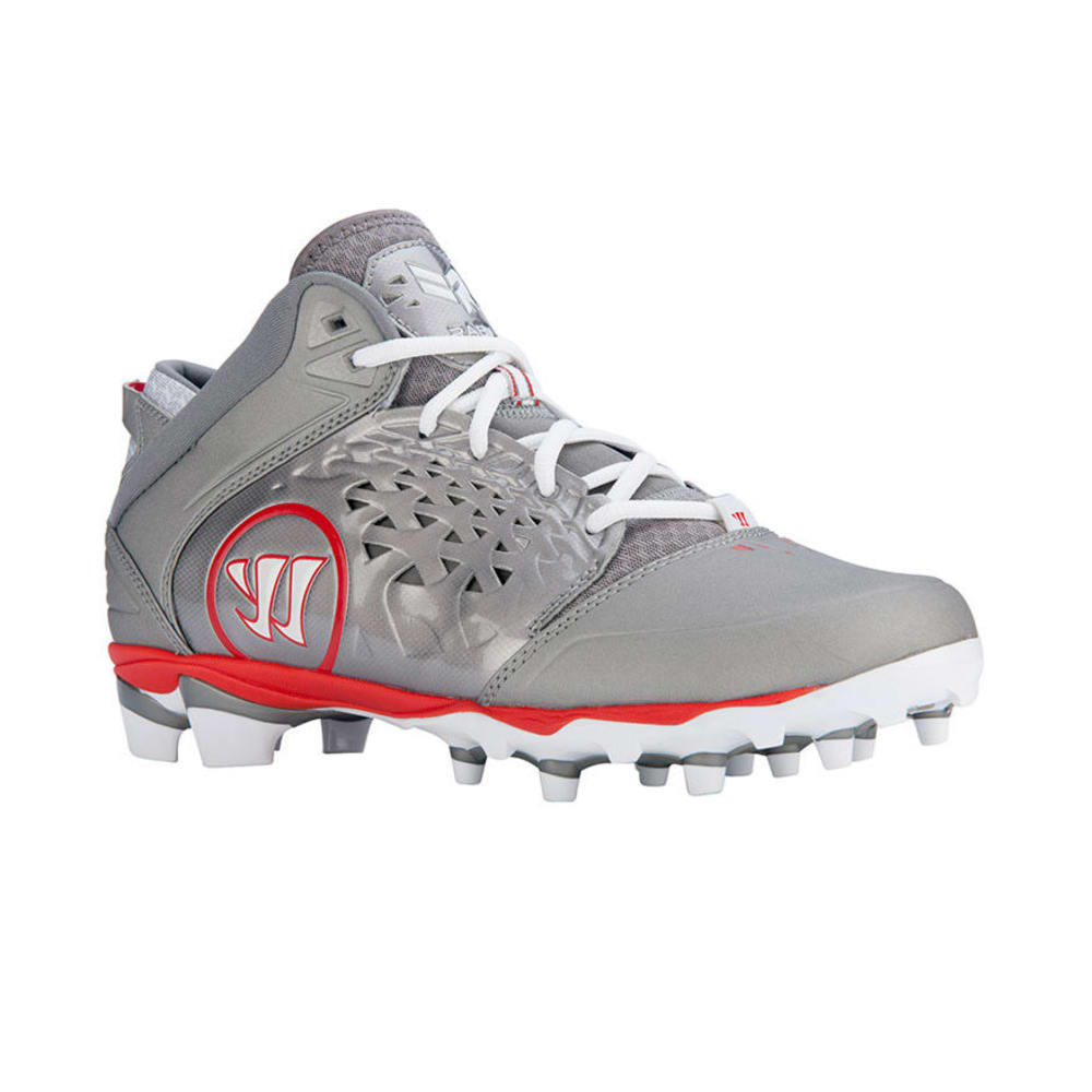 WARRIOR Men's Adonis Lacrosse Cleats - GREY/RED