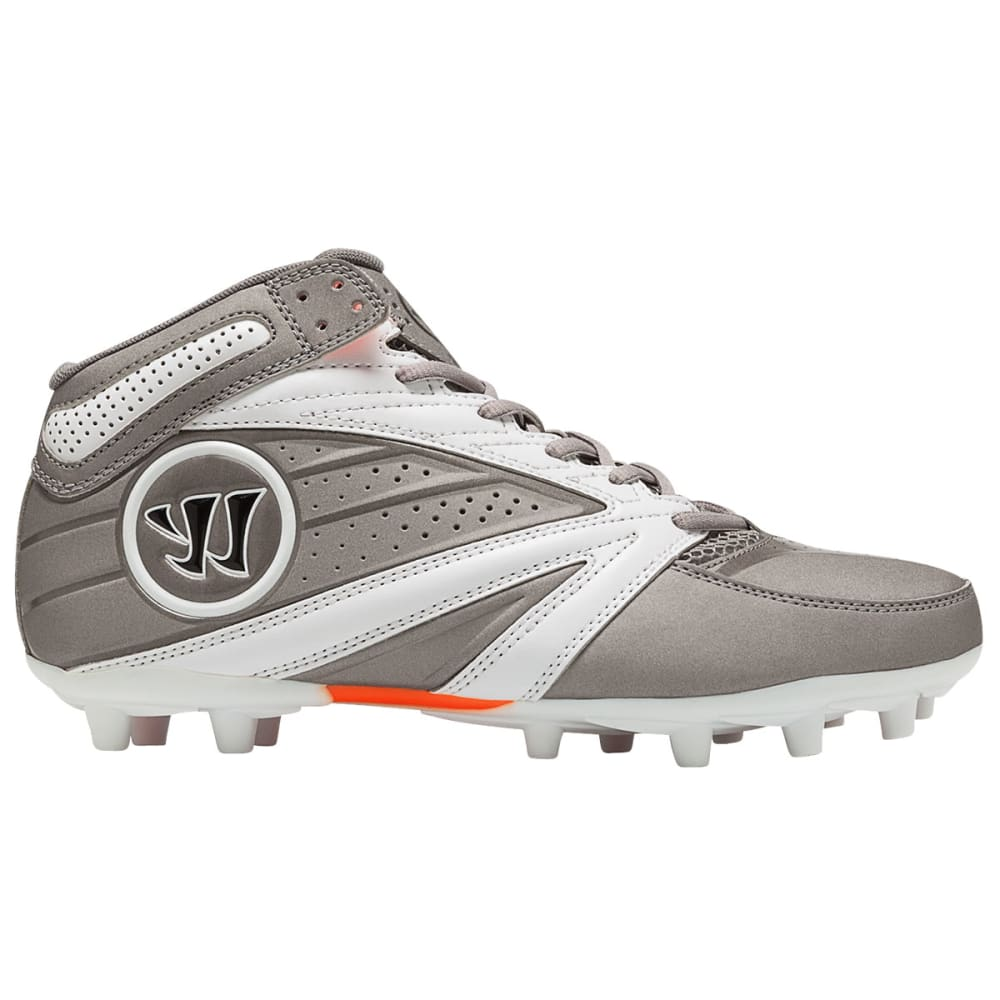 WARRIOR Men's Second Degree 3.0 Lacrosse Cleats - GREY/WHITE
