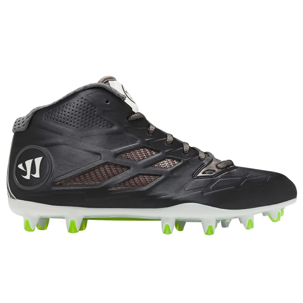 WARRIOR Men's Burn 8.0 Mid Lacrosse Cleats - BLACK