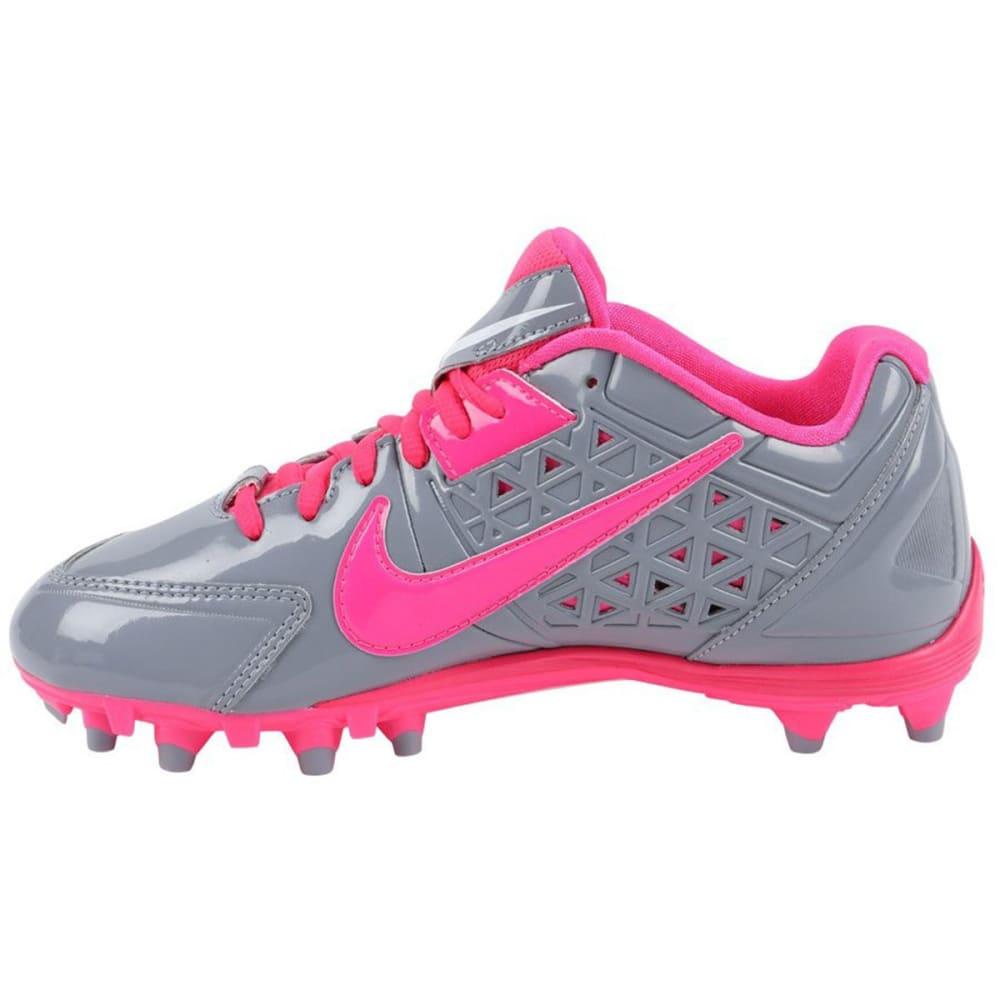 NIKE Women's SpeedLax 4 Lacrosse Cleats - GREY/PINK