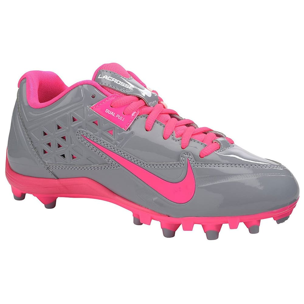 NIKE Women's SpeedLax 4 Lacrosse Cleats - GREY/PINK