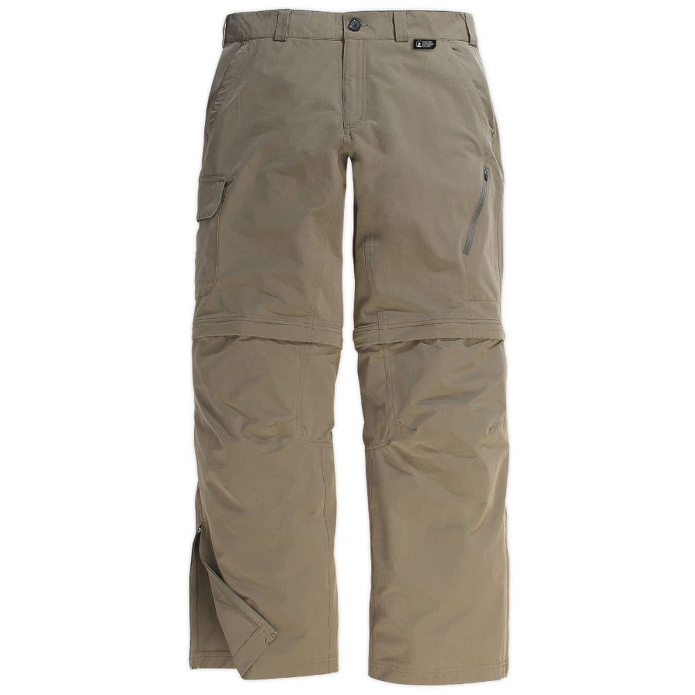 EMS Men's Trailhead Zip-Off Pant's, Inseam Options - KHAKI