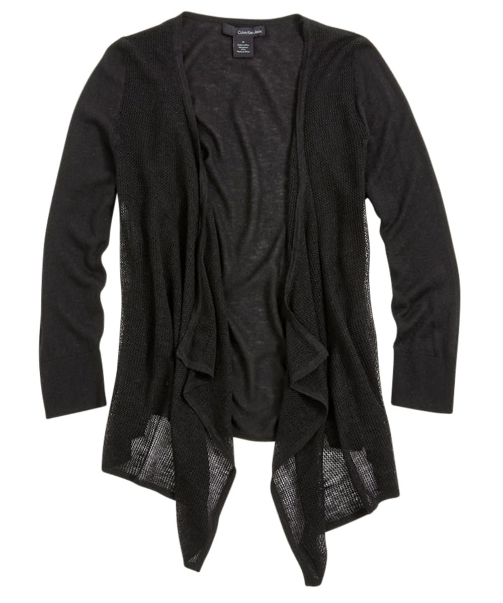 CALVIN KLEIN Women's Open Cardigan - BLACK