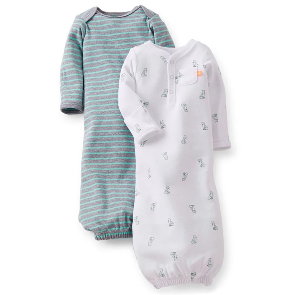 CARTER'S Infant Boys' Sleeper Gowns, 2-Pack - WHITE