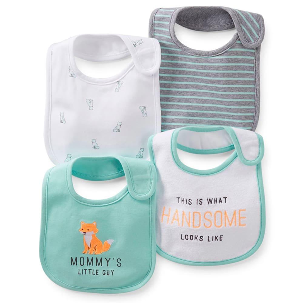 CARTER'S Infant Boys' Teething Bibs, 4-Pack - MINT
