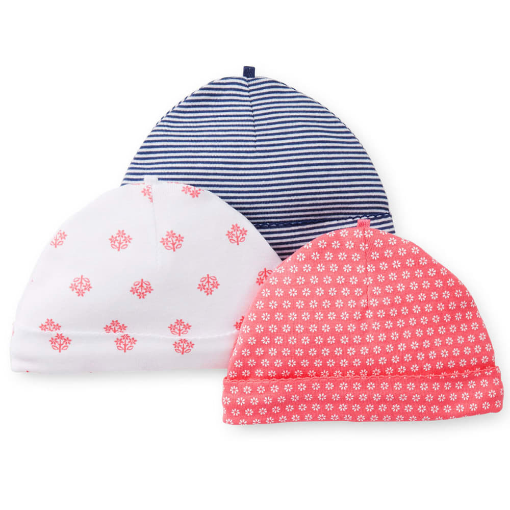 CARTER'S Girls' 3-Pack of Beanies - PLAID