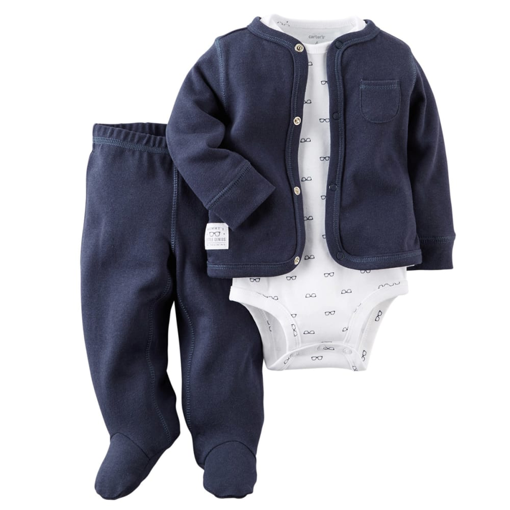 CARTER'S Baby Boys' 3-Piece Cardigan Set - NAVY