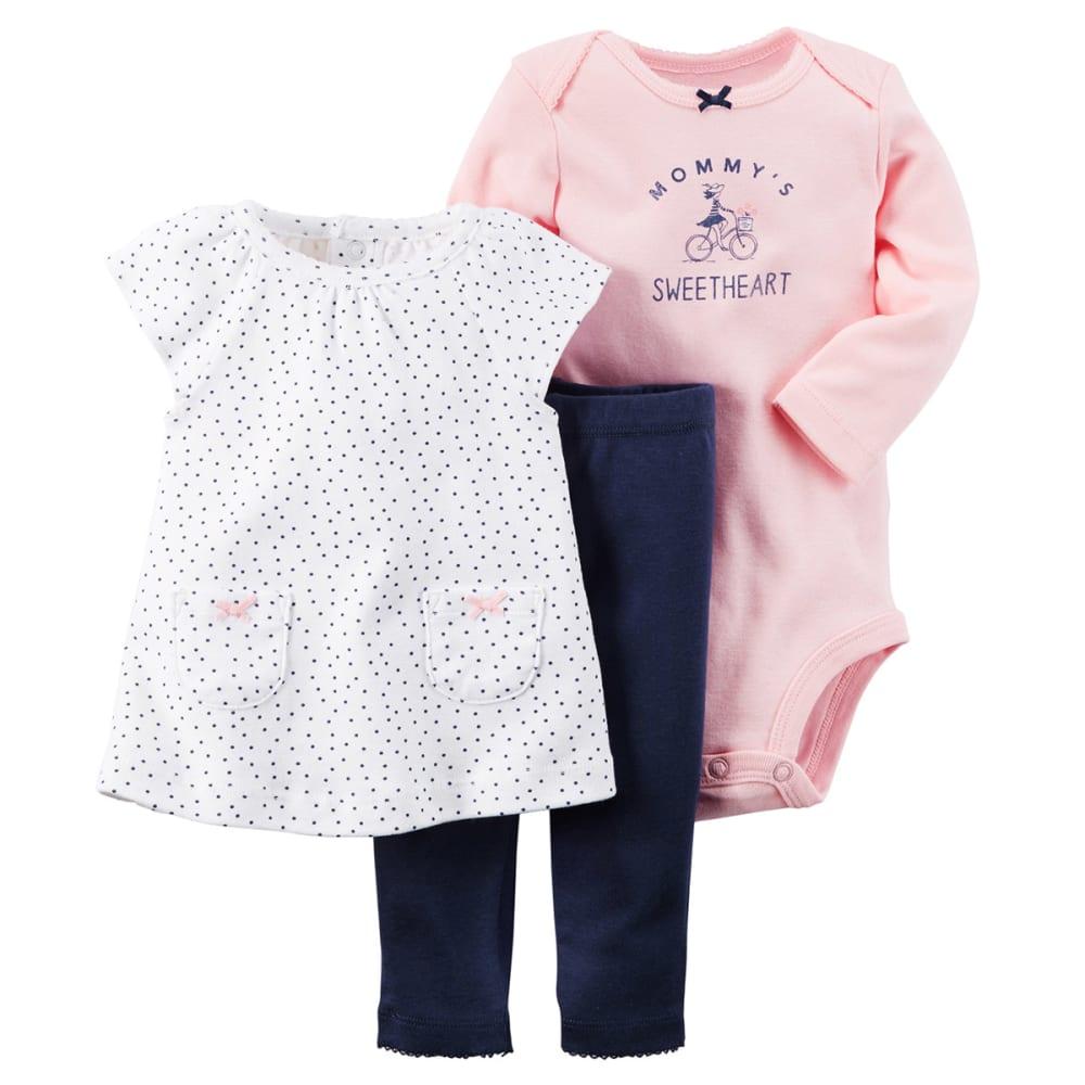 CARTERS Infant Girls' 3-Piece Tunic & Pant Set - PINK