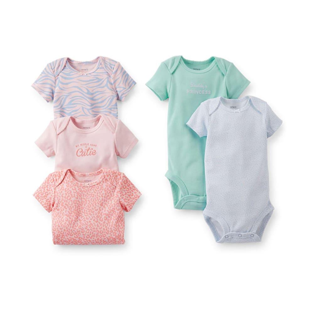 CARTER'S Infant Girls' Bodysuits, 4-Pack - ASSORTED