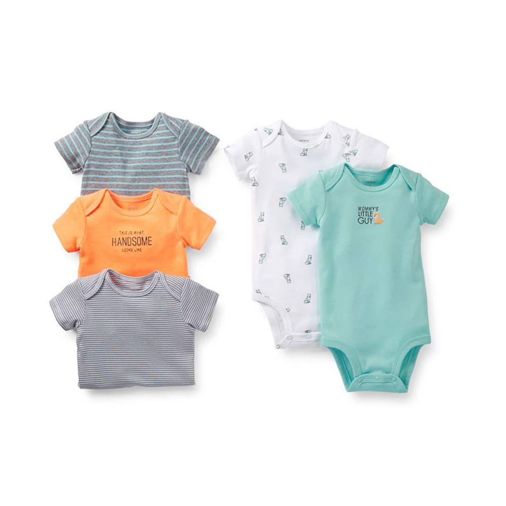 CARTER'S Infant Boys' Bodysuits, 5-Pack - ASSORTED