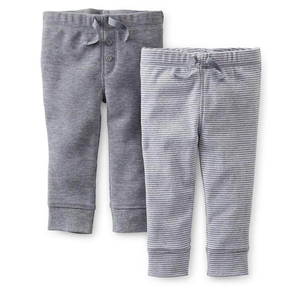 CARTER'S Infant Boys' Pants, 2-Pack - HEATHER GREY