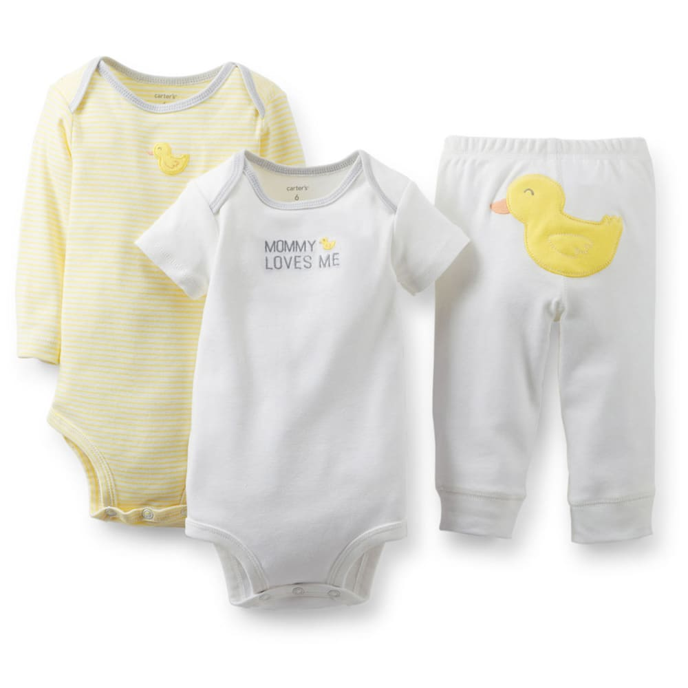CARTER'S Infant Boys' Bodysuit and Pant Set, 3-Piece - IVORY
