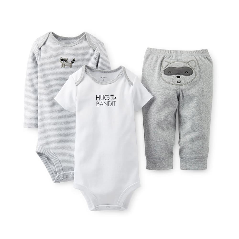 CARTER'S Infant Boys' 3-Piece Bodysuit and Pant Set - HEATHER GREY