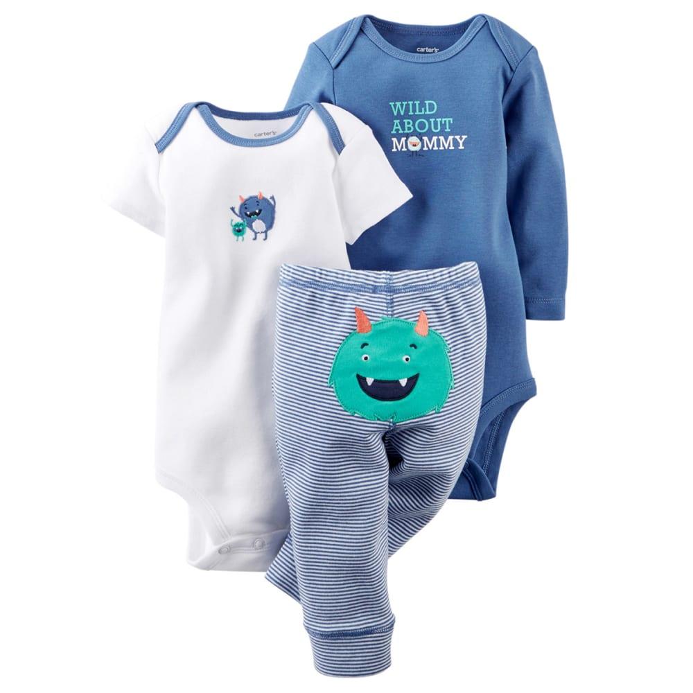 CARTERS Infant Boys' 3-Piece Bodysuit and Pant Set - BLUE