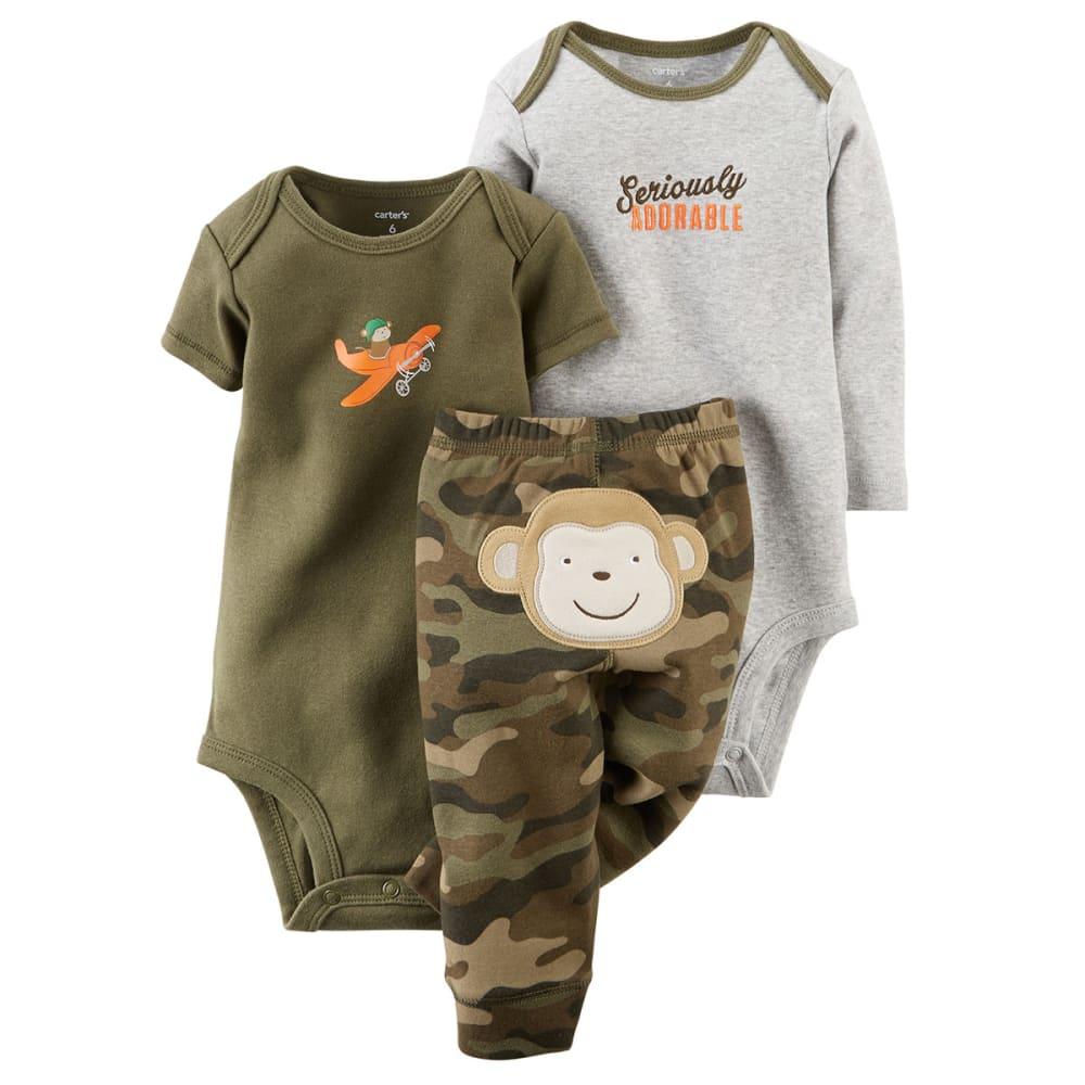 CARTERS Infant Boys' 3-Piece Bodysuit & Pant Set - OLIVE