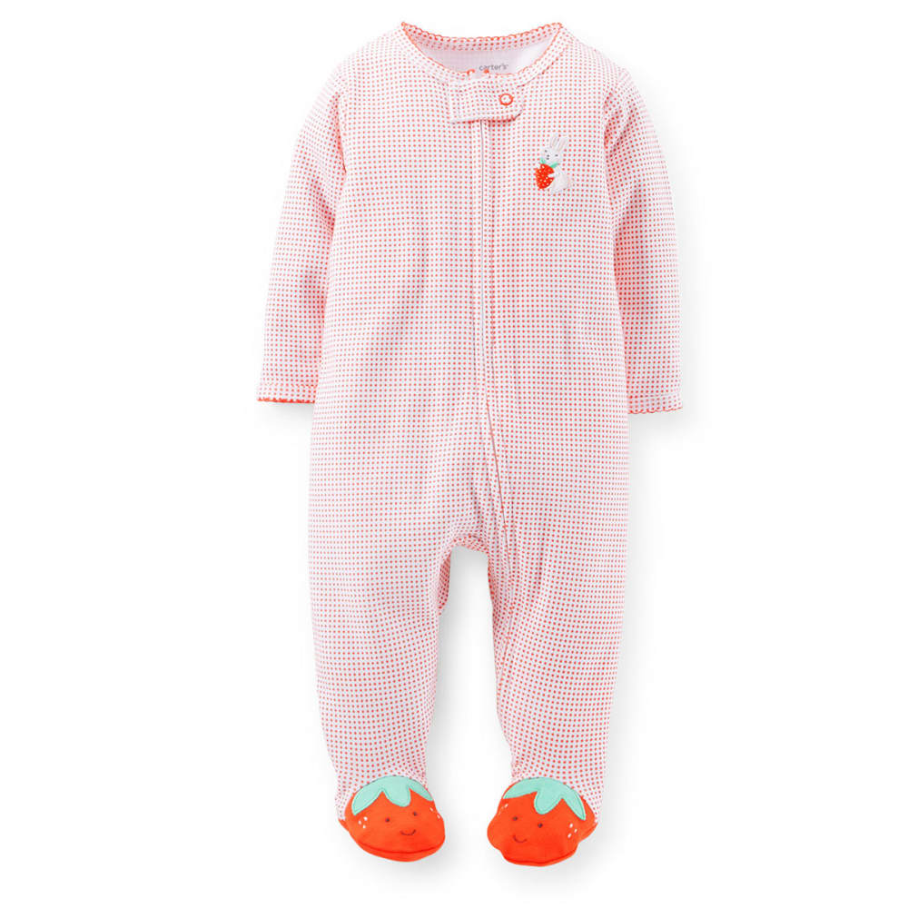 CARTERS Infant Girls' Strawberry Coveralls - VALUE DEAL - RED