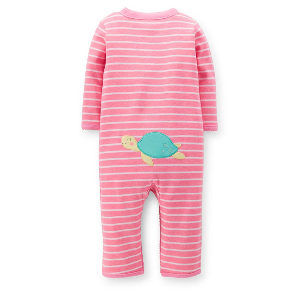 CARTERS Infant Girls' Turtle Footless Sleep and Play  - VALUE DEAL - PINK