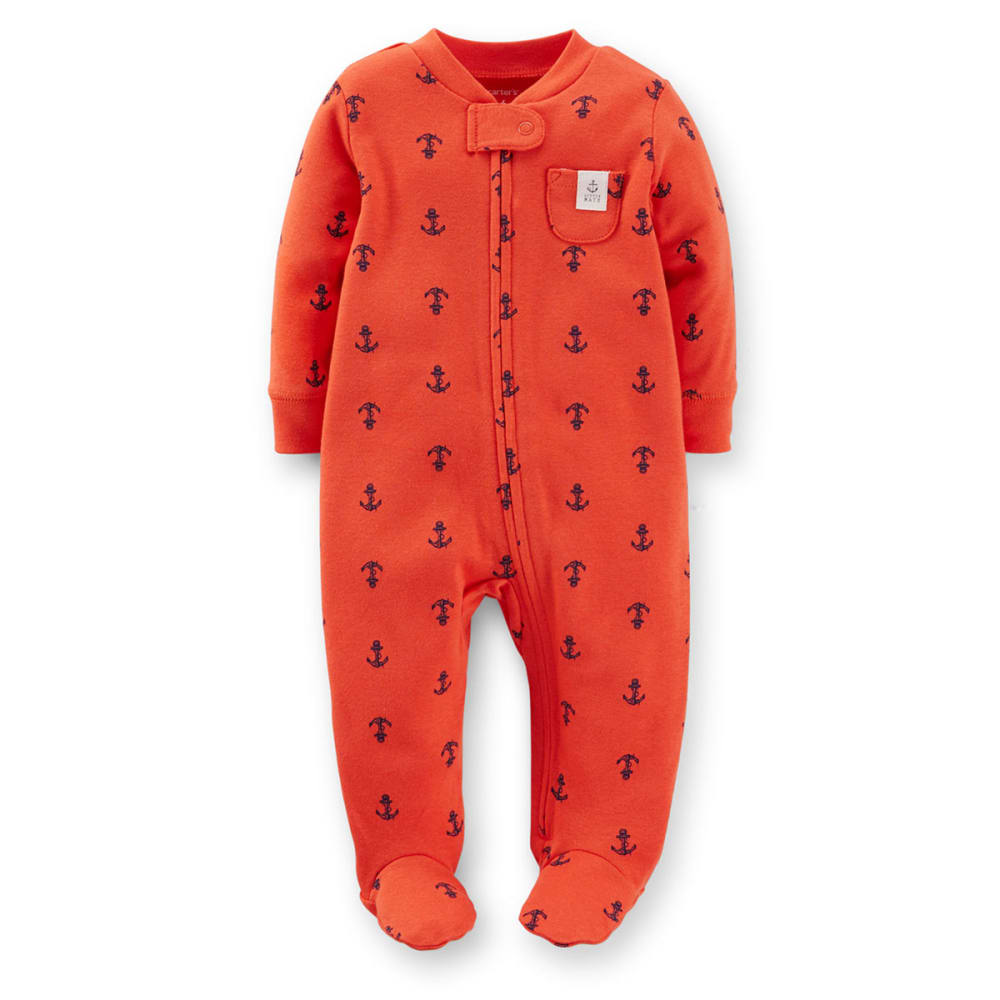 CARTERS Infant Boys' Anchor Print Sleep and Play - VALUE DEAL - RED
