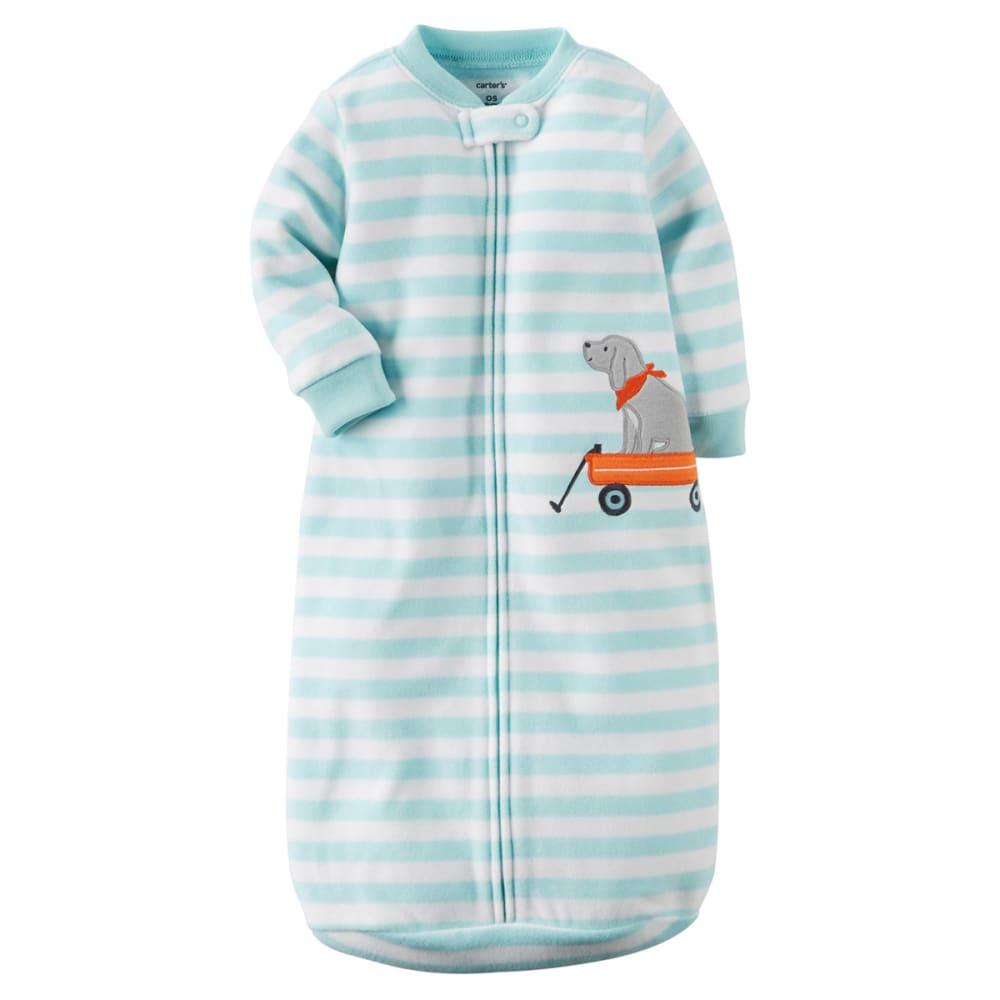 CARTER'S Baby Boys' Fleece Sleepsuit - LIGHT BLUE