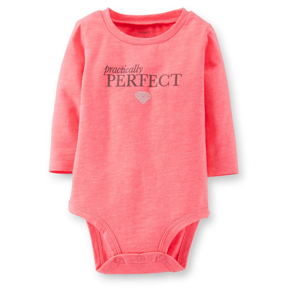 CARTER'S Infant Girls' Pink Practically Perfect Bodysuit - PINK