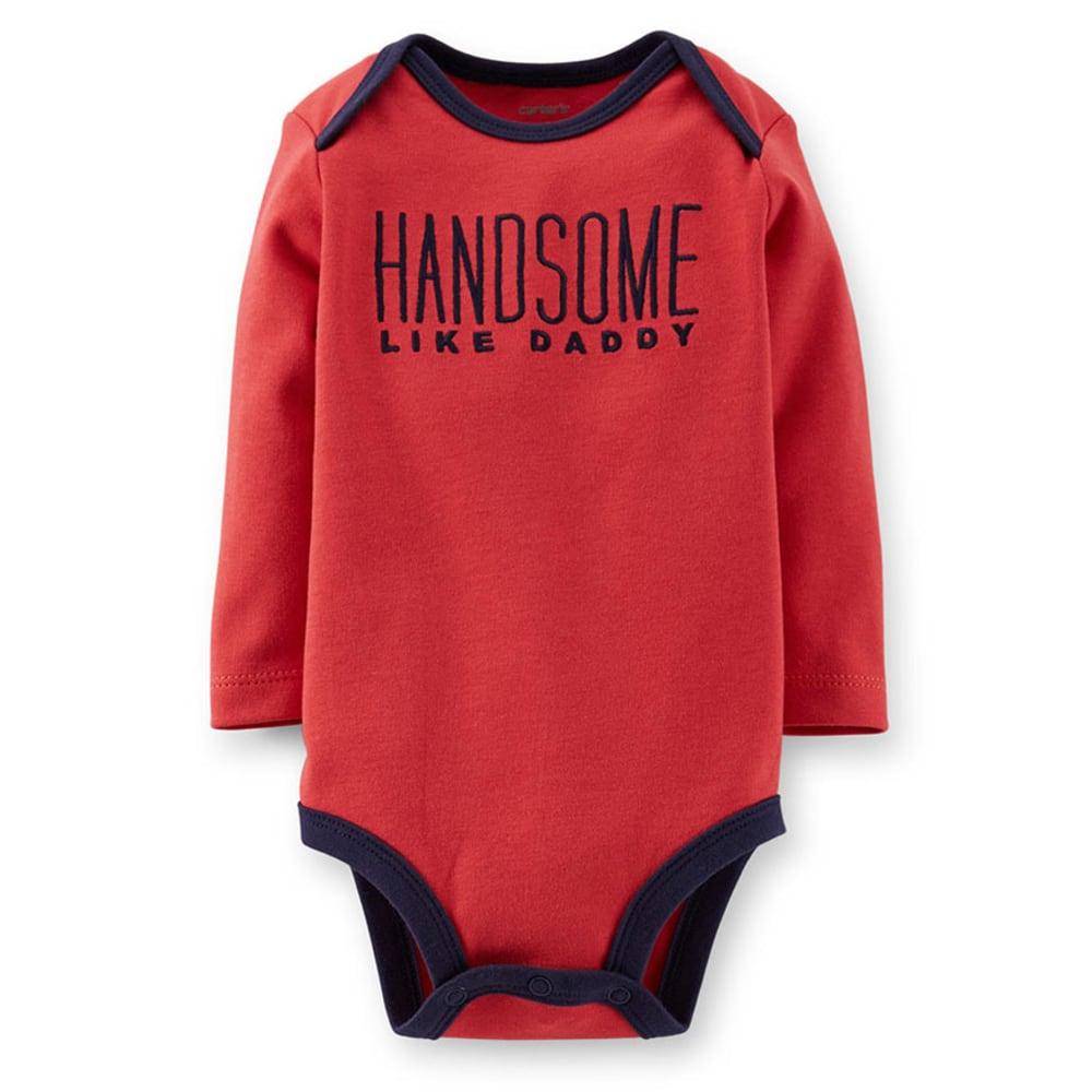 CARTER'S Infant Boys' Handsome Like Daddy Bodysuit - RED