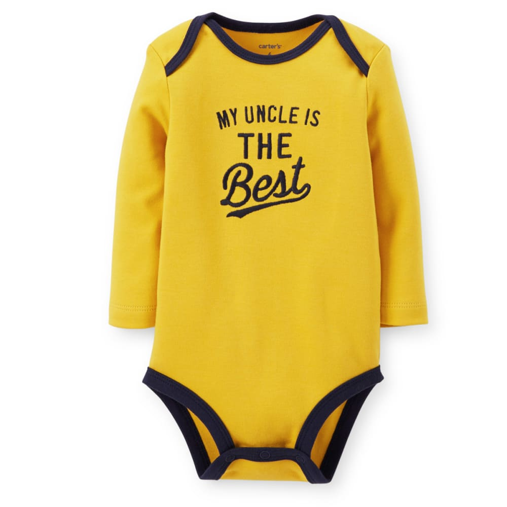 CARTER'S Infant Boys' My Uncle Is The Best Bodysuit - YELLOW