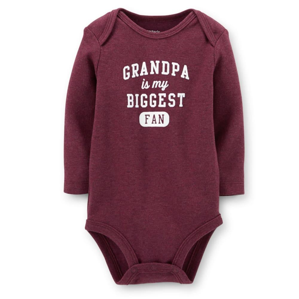 CARTER'S Infant Boys' Grandpa's Fan Bodysuit - MAROON