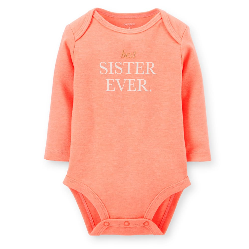 CARTER'S Infant Girls' Neon Sister Bodysuit  - ORANGE