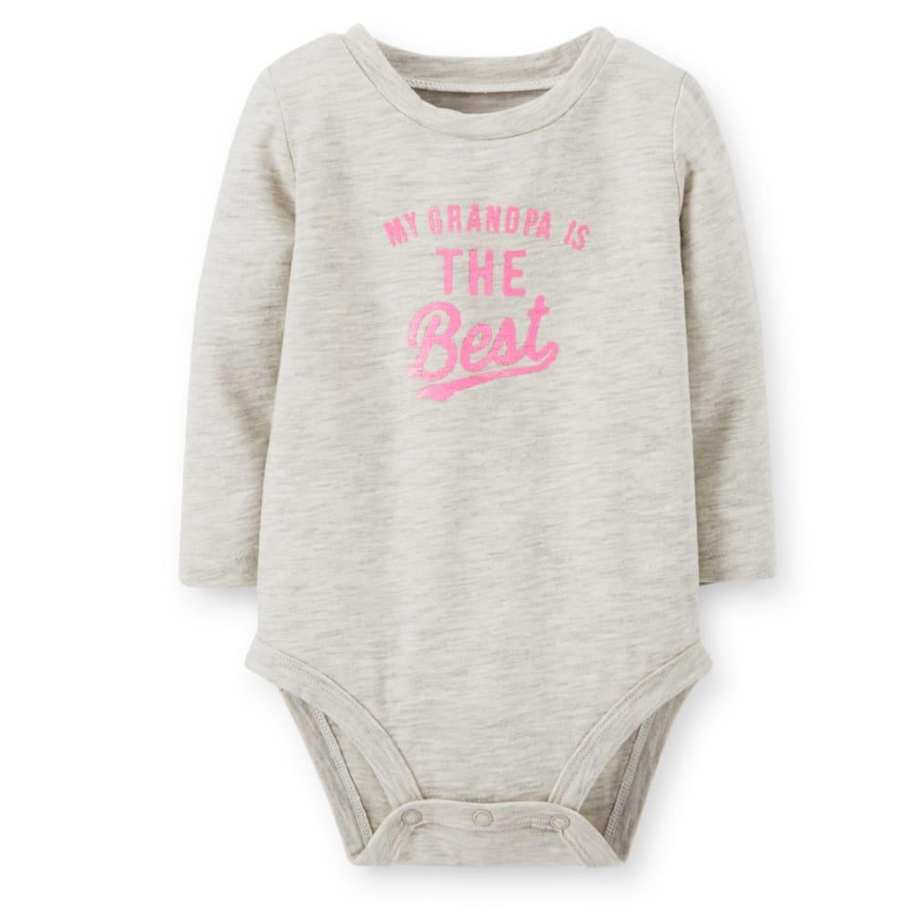 CARTER'S Infant Girls' Grandpa Is The Best Bodysuit - HEATHER GREY