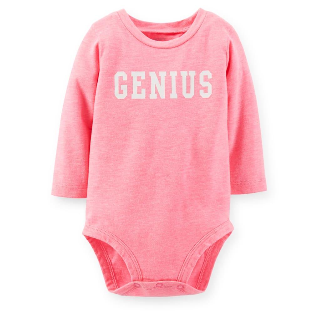 CARTER'S Infant Girls' Genius Neon Bodysuit - PINK