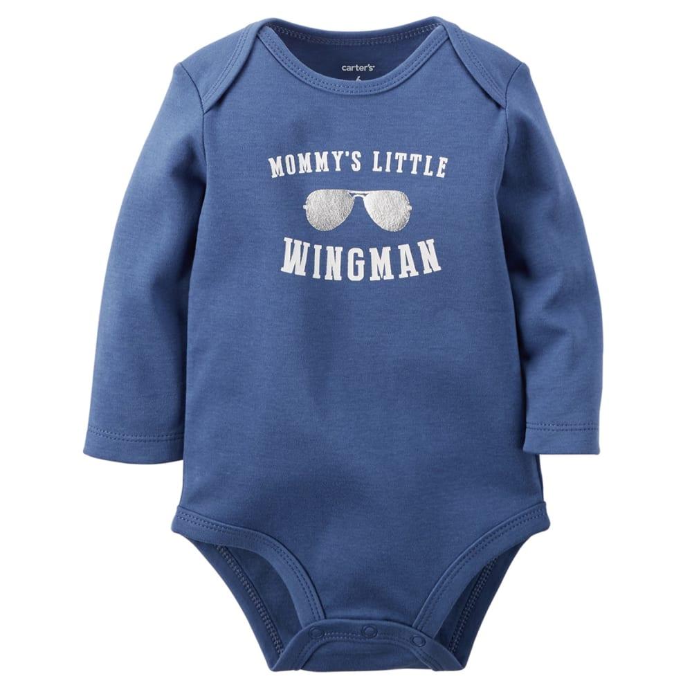 CARTER'S Infant Boys' Mommy's Little Wingman Bodysuit - BLUE