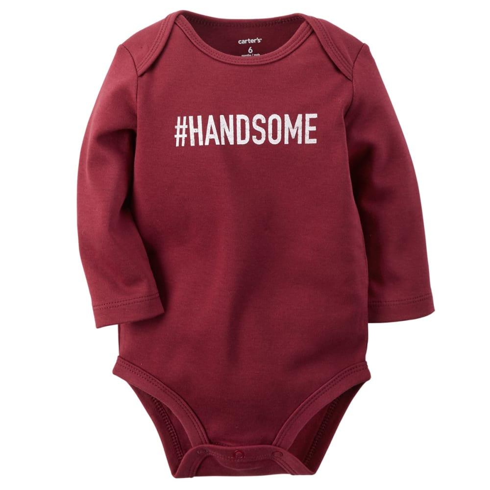 CARTER'S Infant Boys' #Handsome Bodysuit - MAROON