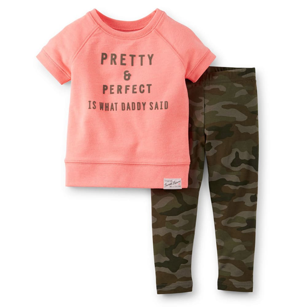 CARTER'S Infant Girls' Pretty And Perfect 2-Piece Set - CORAL