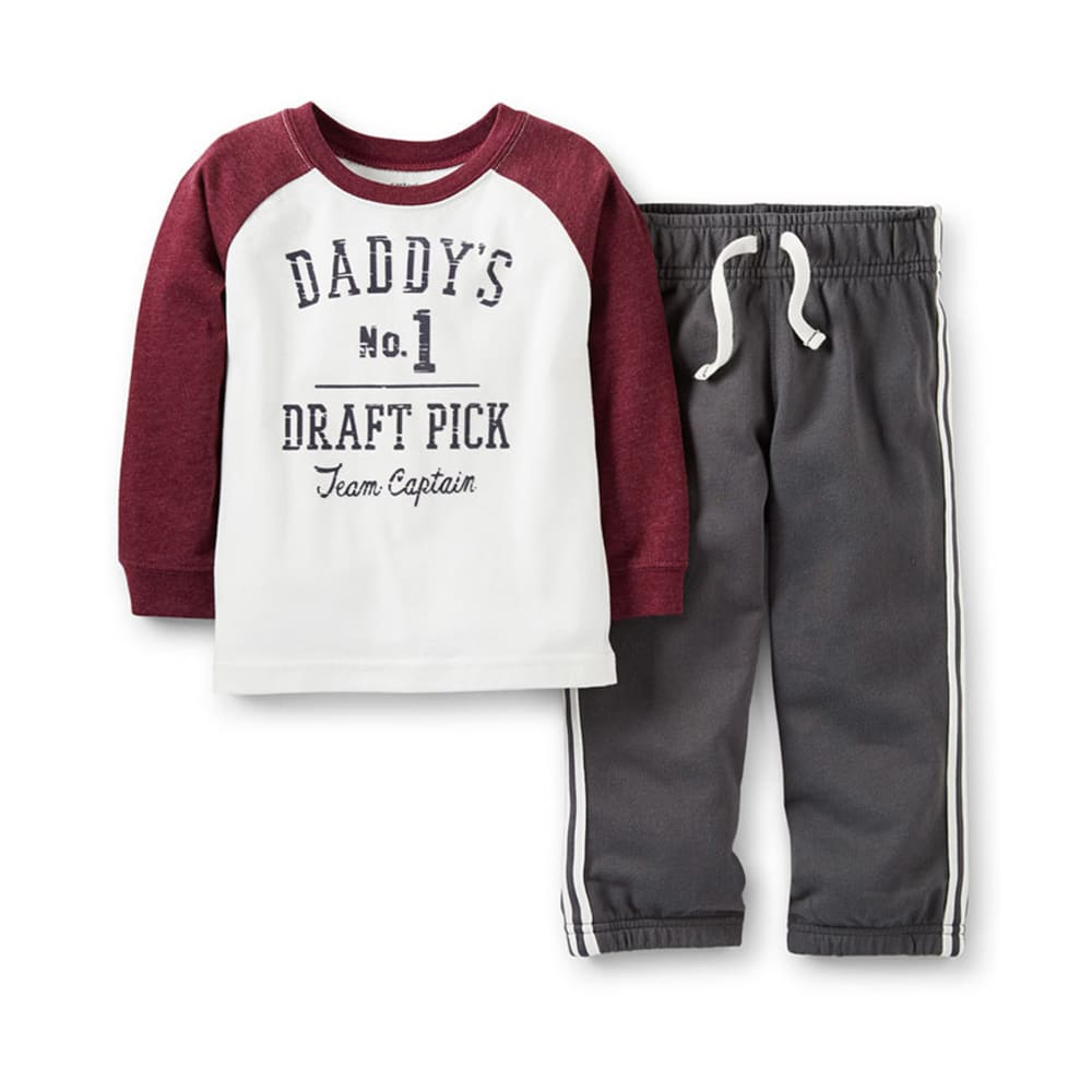 CARTER'S Infant Boys' Daddy's #1 Pick French Terry Pants 2-Piece Set - IVORY