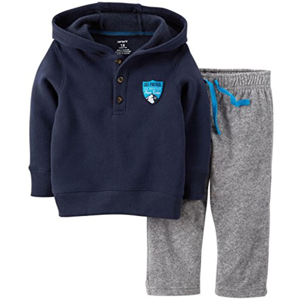CARTER'S Infant Boys' 2-Piece Fleece Set - VALUE DEAL - HORIZON BLUE