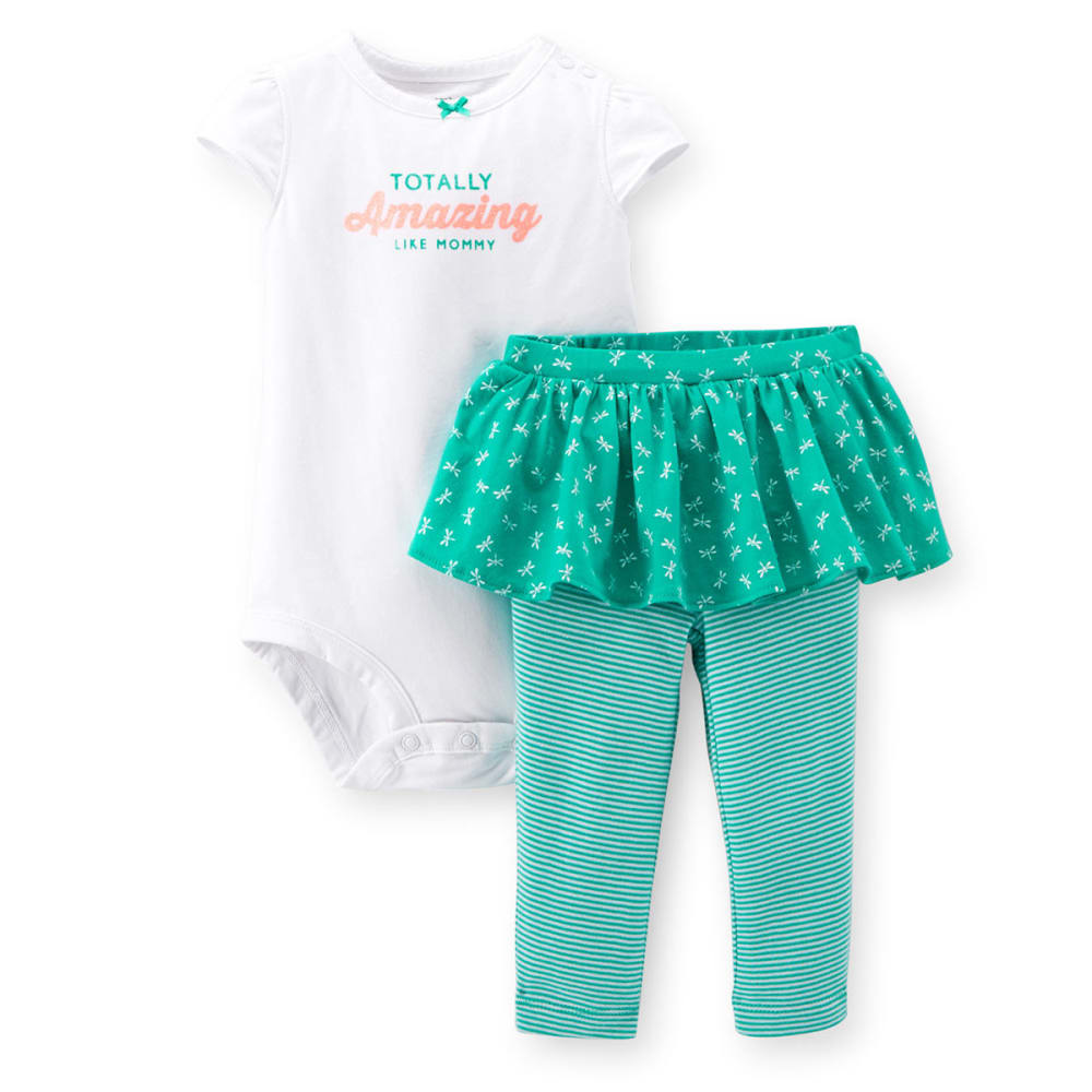 CARTERS Infant Girls 2-Piece Bodysuit and Tutu Pant Set - TURQUOISE