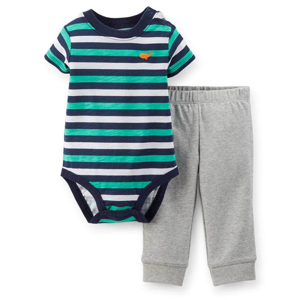 CARTER'S Infant Boys' Two-Piece Striped Bodysuit and Pant Set - STRIPES